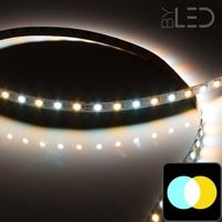 Ruban IP65 5050 - Blanc Pur + Chaud - 7,2W/m - 60 LED/m - 5m
