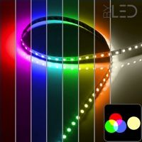 Ruban IP20 5050 - RGB & Blanc chaud - 19,2W/m - 60 LED/m - 5m