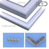 Connexion d'angle à plat pour profilé LED encastrable