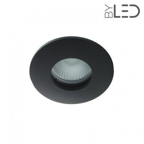 Spot encastrable collerette ronde convex SPLIT - Noir