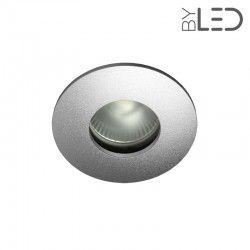 Spot encastrable collerette ronde convex SPLIT - Alu mat
