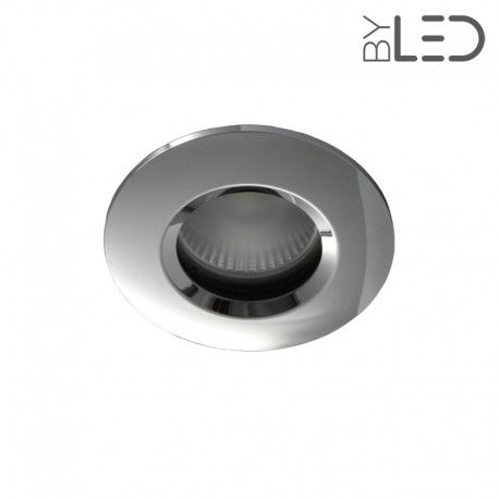Spot encastrable collerette ronde chanfrein SPLIT - Chrome