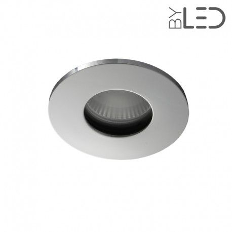 Spot encastrable collerette ronde flat SPLIT - Chrome