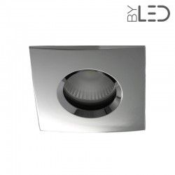 Spot encastrable collerette carrée chanfrein SPLIT - Chrome
