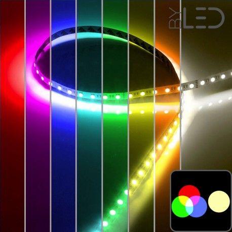 Ruban IP68 5050 - RGB & Blanc chaud - 19,2W/m - 60 LED/m - 5m