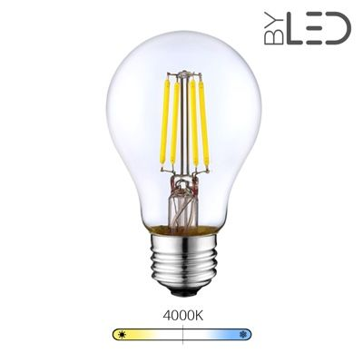 Ampoule LED à filament - Blanc Neutre – 6W - E27 - Dimmable