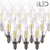 Lot de 20 ampoules LED à filament Flamme - Blanc Chaud - E14 – 4W - Dimmable - C35