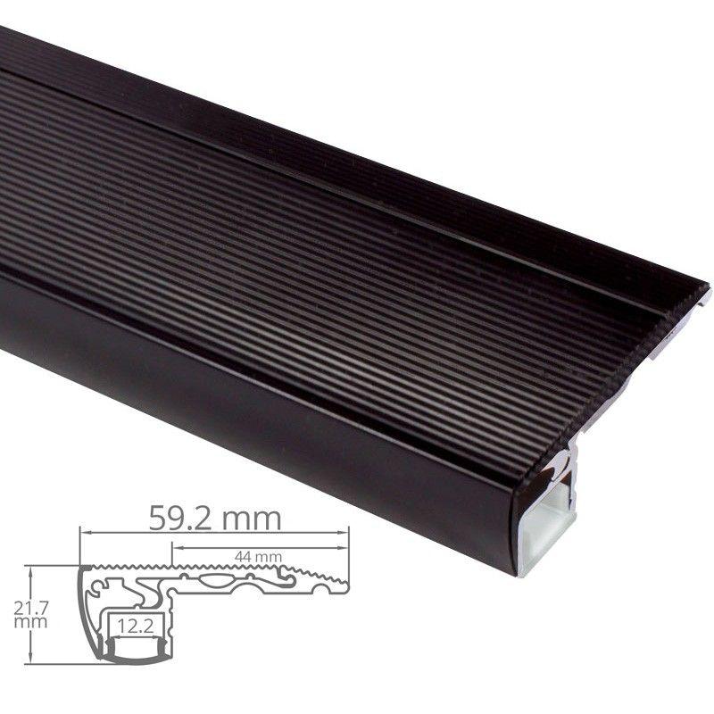 Profile Nez De Marche D Escalier En Aluminium Noir Pour Ruban Led Byled Fr