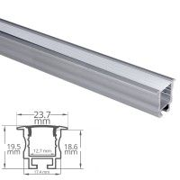 Profilé aluminium encastrable pour ruban LED - CRAFT - E05