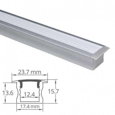 Profilé aluminium encastrable pour ruban LED - CRAFT - E04