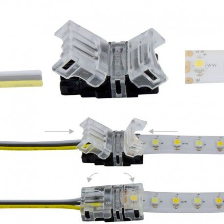 Connexion rapide ruban LED CCT IP20 - Cable 10 mm - 3p