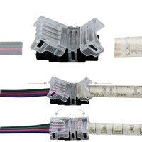 Connexion rapide ruban LED RGB IP65 – Câble 4 pôles