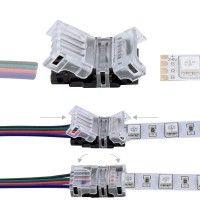 Connexion rapide ruban LED RGB IP20 – Câble 4 pôles