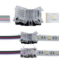 Connexion rapide ruban LED RGBW IP20 - Câble 12 mm - 5p