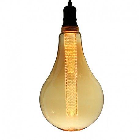 Ampoule LED à Tube Grande goutte S165 – E27 – 2,3W – Ambrée 1800K - Dimmable