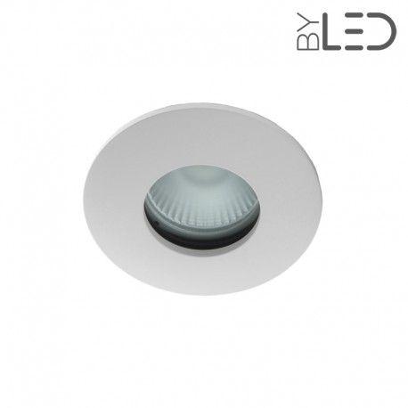 Spot encastrable collerette ronde convex SPLIT - Blanc mat