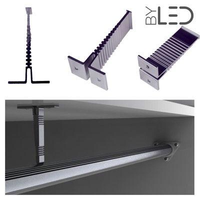 Support penderie pour profilé LED tube - T01