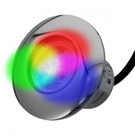 Projecteur piscine buse inox 100mm - RGB – 6W – 12VDC – IP68 – PWM