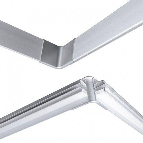 Jonction en X pour traversée d'angle pour profilé LED aluminium corniche 2 directions M04