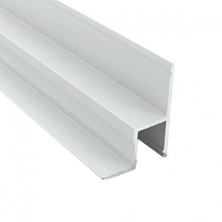 Profilé aluminium laqué blanc cornière plafond et mur pour ruban LED - CRAFT - B01 - BLANC