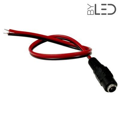 Connecteur alimentation Jack + câble 30 cm