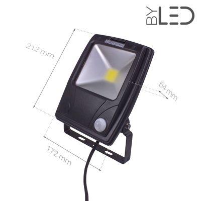 Projecteur LED Design à détecteur 20 W - 230V - RHINO