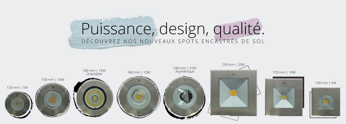 Nouveaux encastrés de sol Qinox 230V